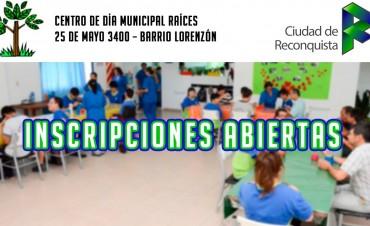 Inscripciones abiertas  para el Centro de día municipal Raíces