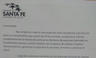 Implementan medidas de seguridad en el Hospital Reconquista