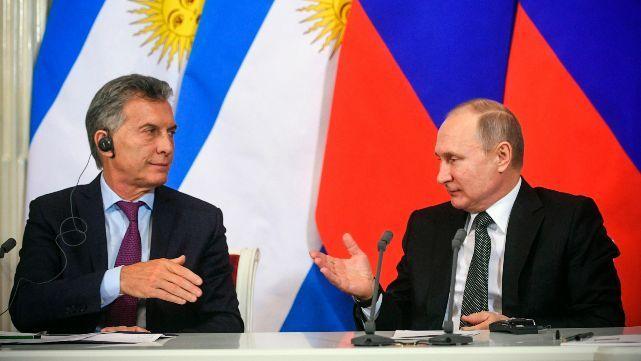 Macri y Putin hablaron de cooperación económica y del ARA San Juan