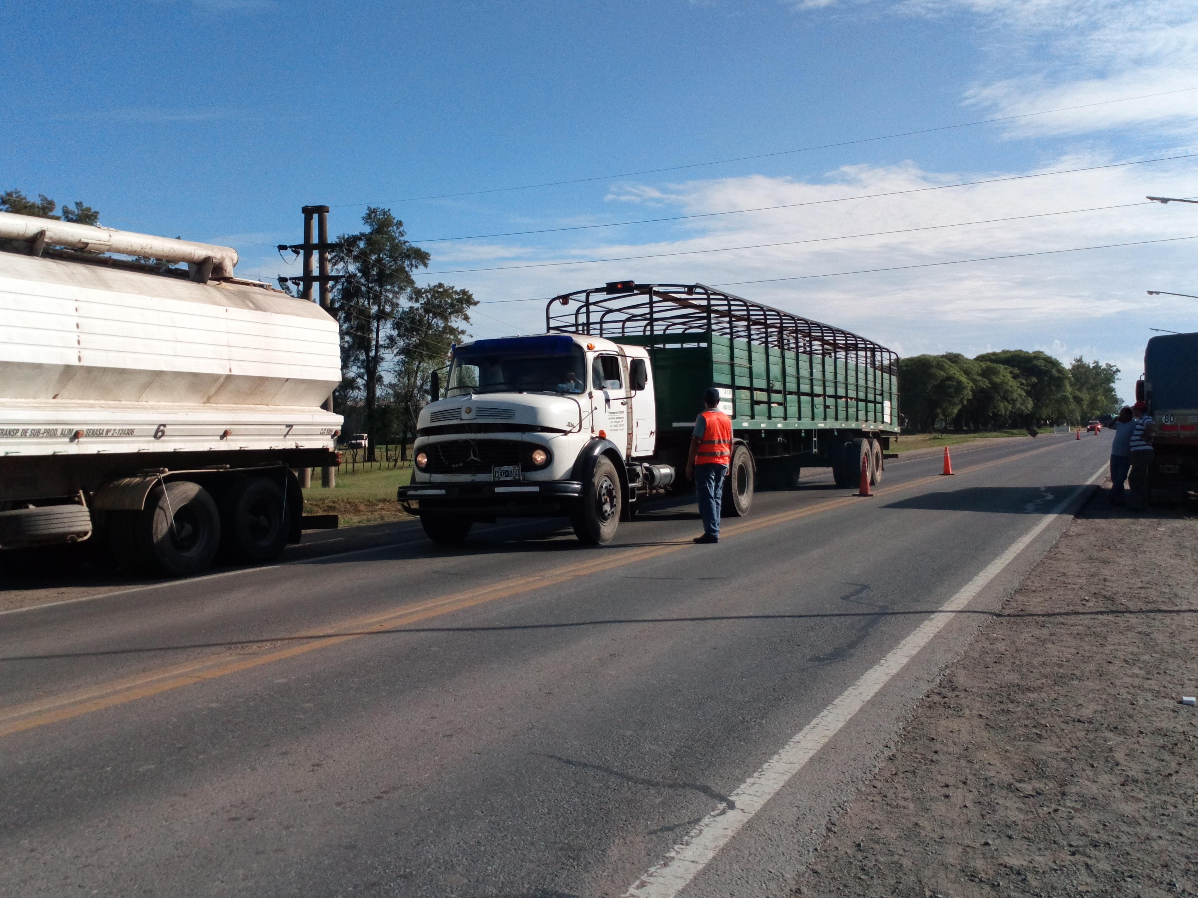 Continúa la protesta de camioneros autoconvocados