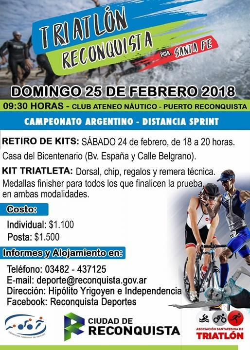 Lanzamiento Triatlón Reconquista 2018