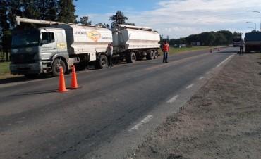 Protesta de camioneros en Ruta 11