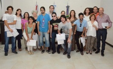 Entrega  de aportes económicos del Fondo Cultural Municipal