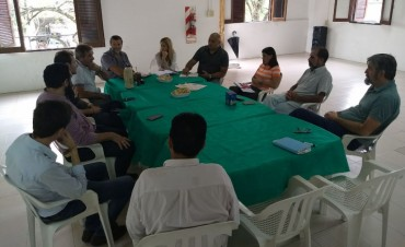 Reunión por el traslado de maestranza municipal en Reconquista