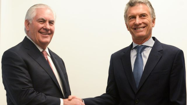 Macri se reunió con el secretario de Estado de Trump