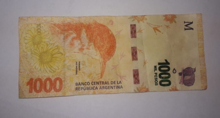 Atención!! Billetes de 1000 pesos falsos
