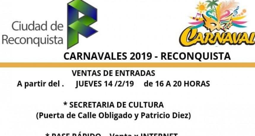 Este jueves comienzan las venta de entradas para los Carnavales 2019