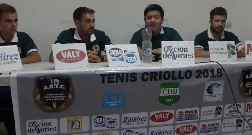 "Se presentó la ""Copa Activa 2018"" del Tenis Criollo"