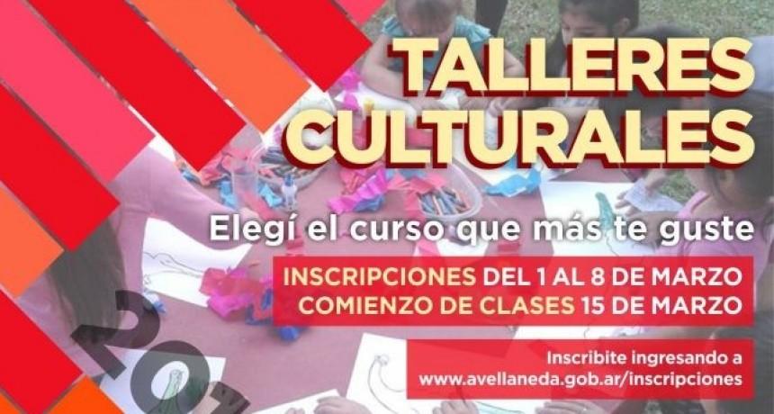 Inscribite online en los talleres culturales en Avellaneda