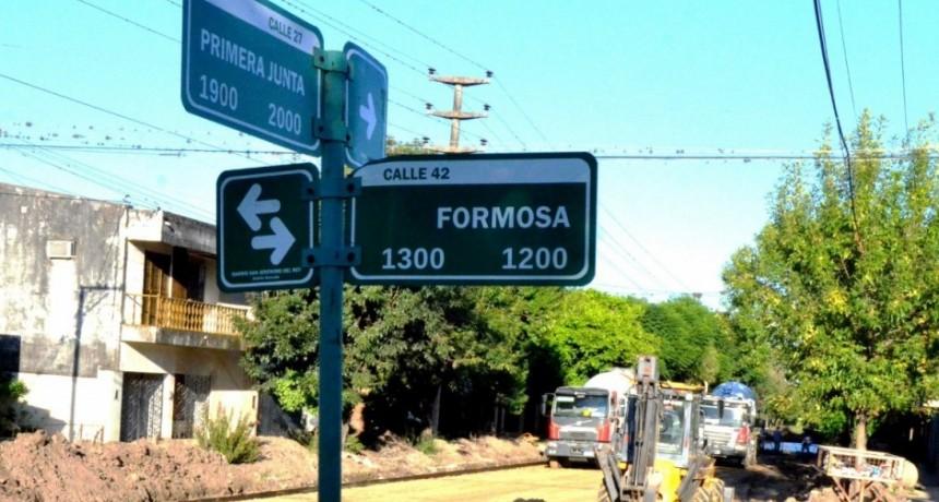 Nueva cuadra de pavimento en Reconquista
