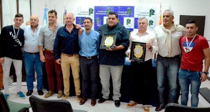 Reconocimiento a Tata Mancuello y Sergio Vera, campeones de la Copa Federación de Santa Fe