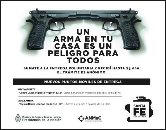 Entrega voluntaria de armas en Avellaneda
