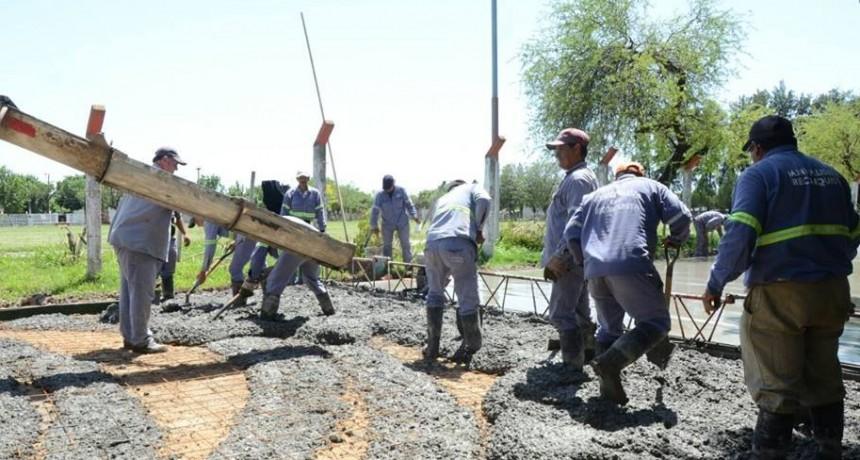 El municipio continúa con los trabajos en distintos barrios de Reconquista