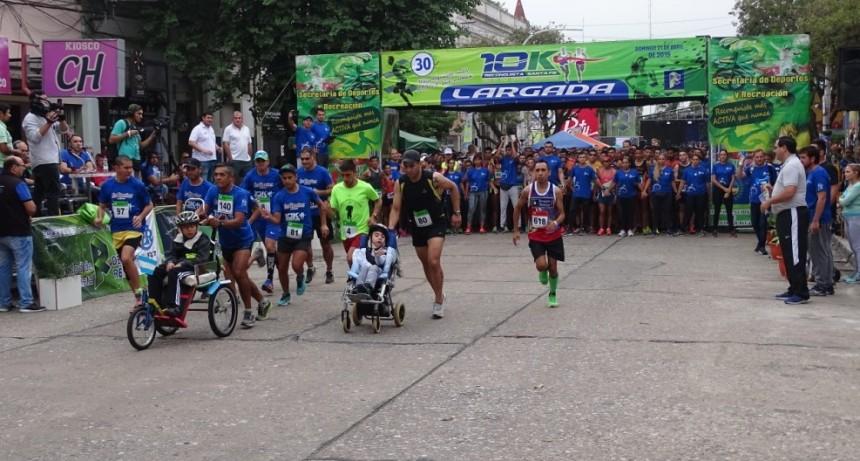 Burgos y ponce ganaron los 10K Reconquista