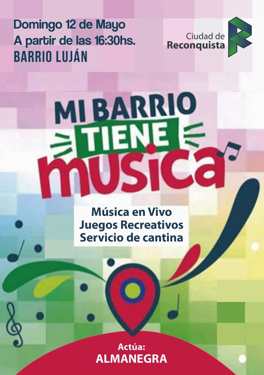 Este domingo la música suena en Barrio Luján