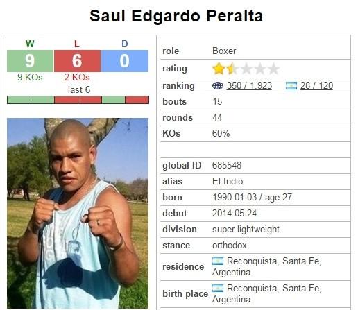 El boxeador reconquistense Saúl Peralta está grave