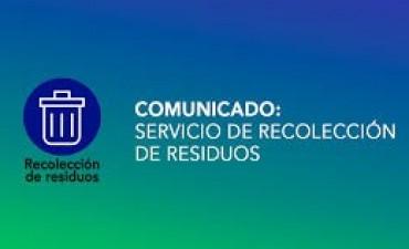 Los servicios durante el feriado del 20 de Junio