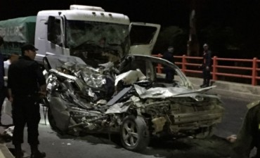 Accidente de  transito fatal sobre el Puente Chaco-Corrientes