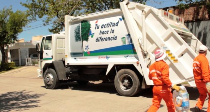 Feriado: recolección de residuos