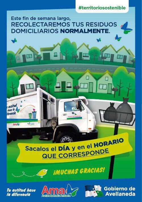 Sin cambios en la recolección de residuos en Avellaneda