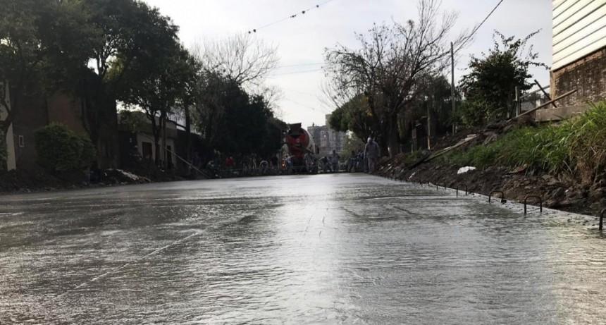Continúan las obras de pavimentación en Reconquista