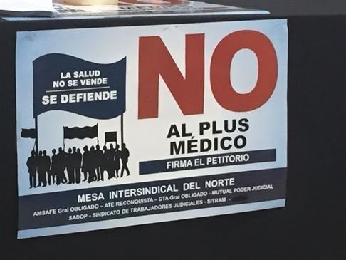 """Lanzan campaña """"No al Plus medico"""""""
