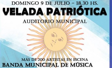 Velada patriotica en Avellaneda