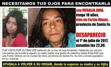 Sin rastros de Rosalía Jara