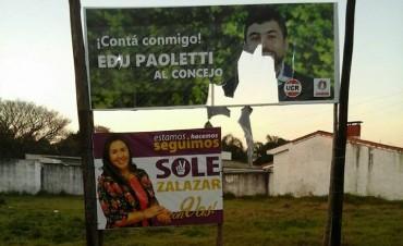 Paoletti denunció en el Ministerio Público de la Acusación la rotura de cartelería