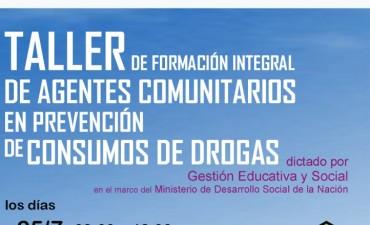 Capacitan a agentes comunitarios en prevención de consumos de drogas