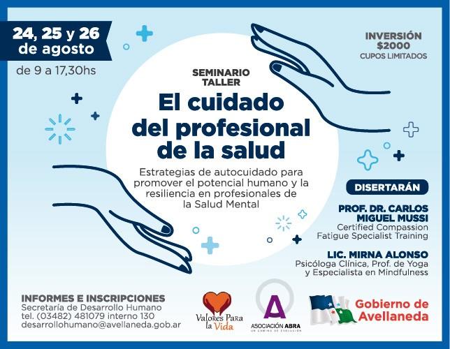 Seminario: El cuidado del profesional de la salud