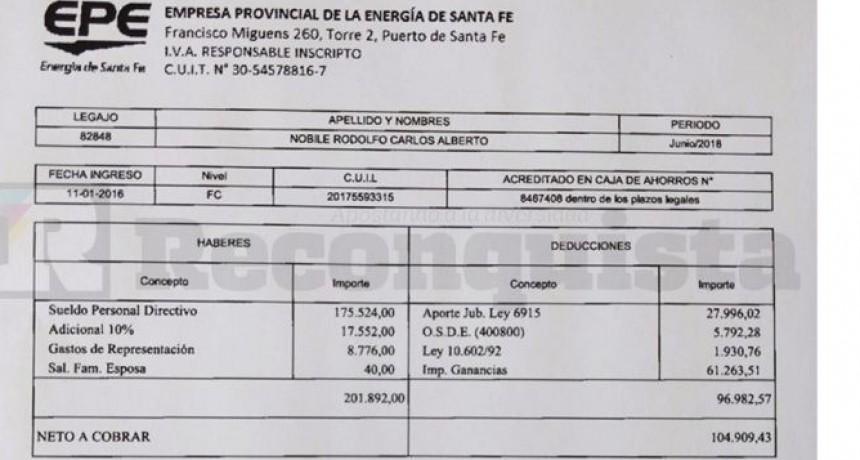 Carlos Nóbile mostró su recibo de sueldo