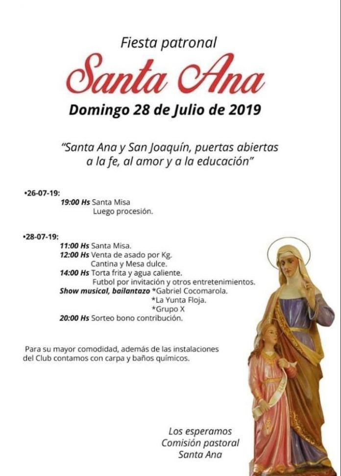 Fiesta patronal de Santa Ana