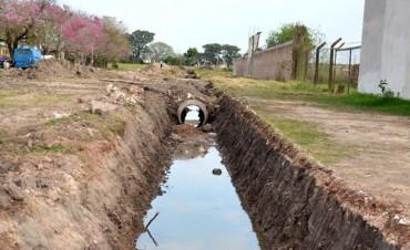 Avanzan las obras del Plan estratégico de desagües en barrio Nueva Fe