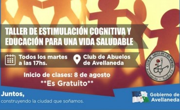 Taller de estimulación cognitiva en Avellaneda