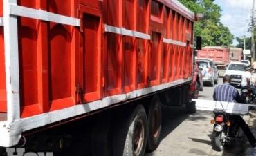 Playa de camiones en Reconquista