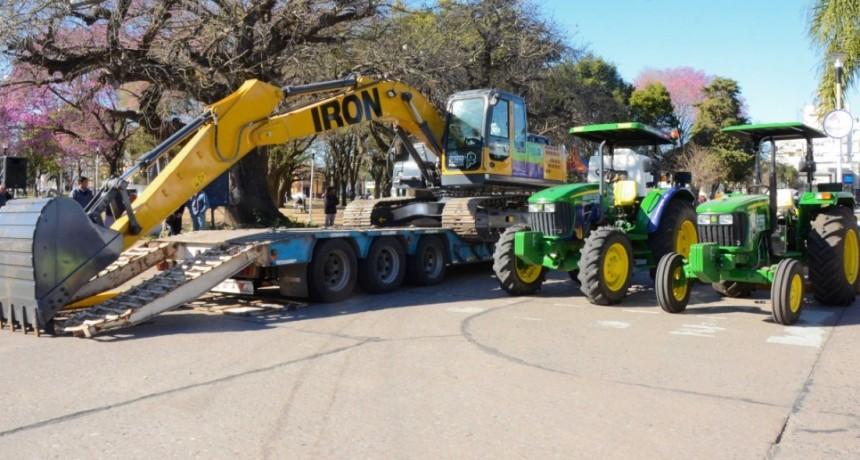 Nuevas maquinarias y vehículos para Reconquista