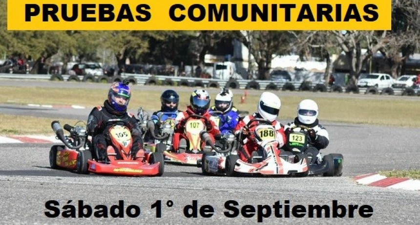 Pruebas comunitarias en el Karting del Noreste Santafesino