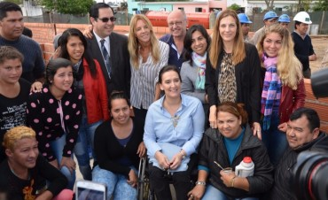 Michetti visitó la obra del Plan de Desarrollo Integral de Puerto Reconquista