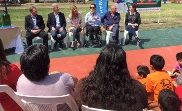 Gabriela Michetti visitó Avellaneda