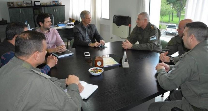 Scarpin se reunió con el Jefe de Gendarmería Nacional