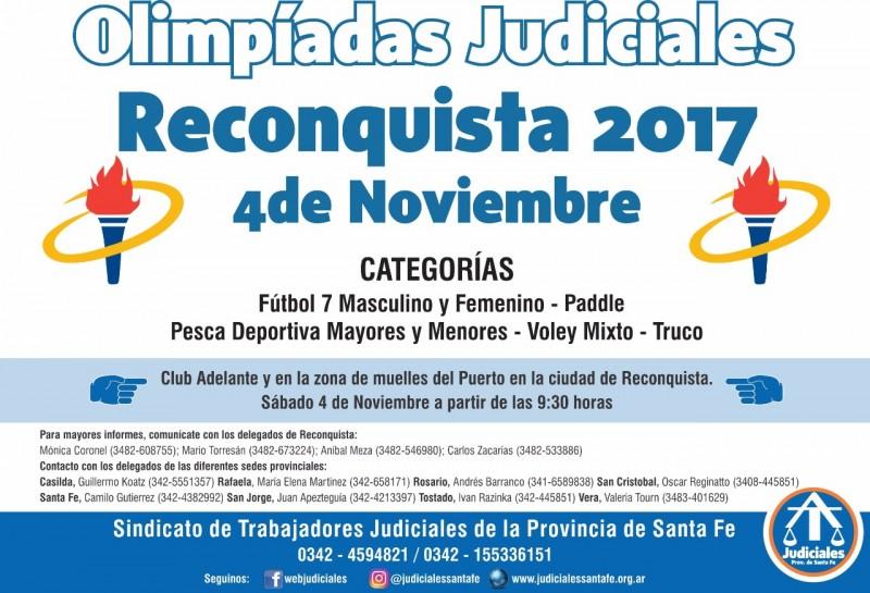 Olimpiadas de los Trabajadores Judiciales en Reconquista