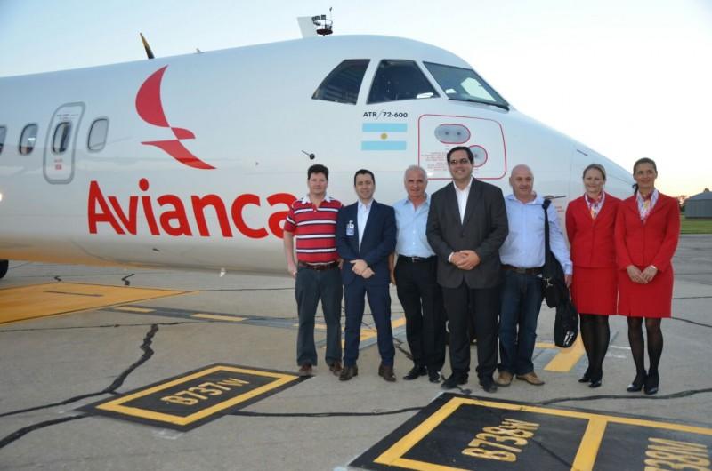 Aterrizó en Reconquista el nuevo avión de la empresa Avianca