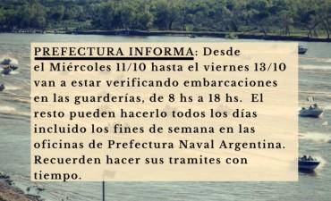 Prefectura Reconquista continúa realizando controles a embarcaciones