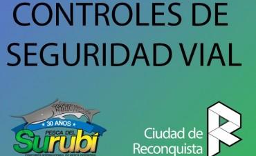 Controles de seguridad vial en Reconquista