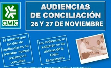 Audiencias de Conciliación de Octubre de OMIC