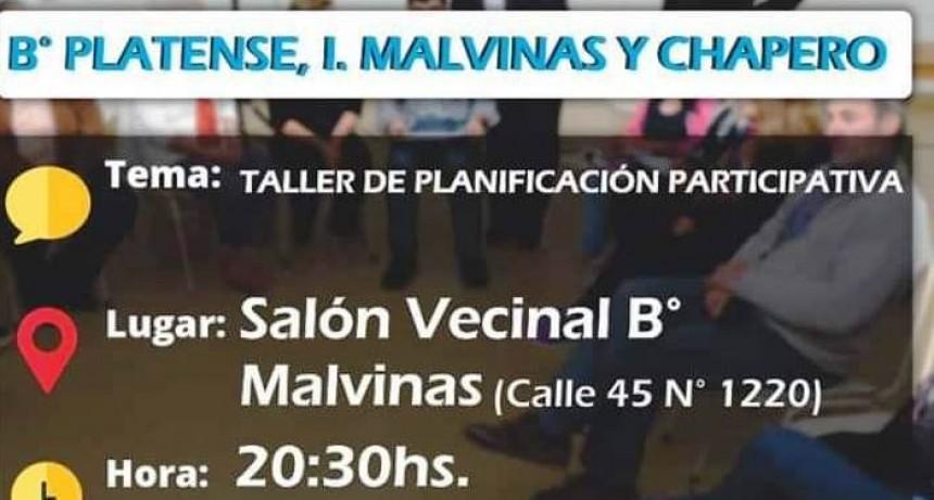 Planificación Participativa en Platense, Islas Malvinas y Chapero