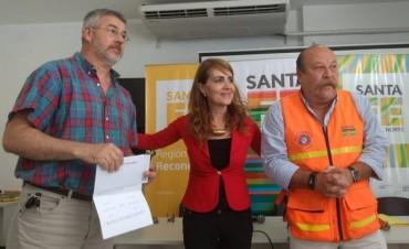 La provincia entregó aportes a asociaciones de bomberos voluntarios