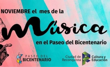 Noviembre, mes de la Música en Reconquista