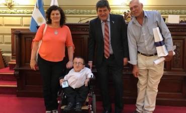 Juani Pereson fue distinguido por la Cámara de Diputados